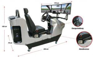 Der Fahrschulsimulator der Extraklasse! Zusammen mit unserer unschlagbaren Softwarelösung steht der virtuellen Aus- und Weiterbildung am Fahrschulsimulator nichts mehr im weg!