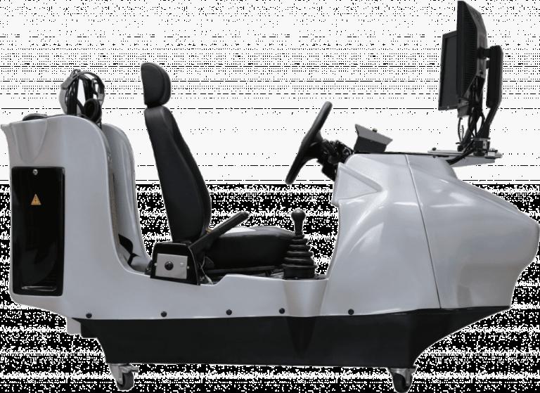 Der Fahrschulsimulator Barracuda 2 kann neben dem Einsatz in Fahrschulen auch mit z.B. Rettungswagen Software ausgestattet werden.