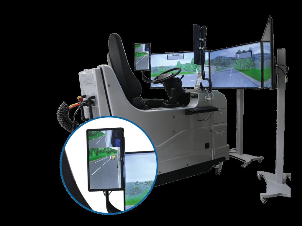 Durch seine kompakten Maße ist der SIMUPL der beliebteste nach EU Richtlinien zertifizierte LKW Fahrsimulator zur Aus- und Weiterbildung für Berufskraftfahrer!