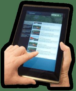 Tablet Steuerung für LKW Fahrsimulatoren